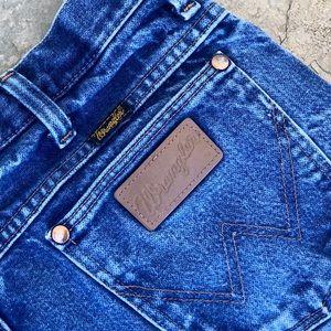 Wrangler   Reworked Distressed Denim Shorts